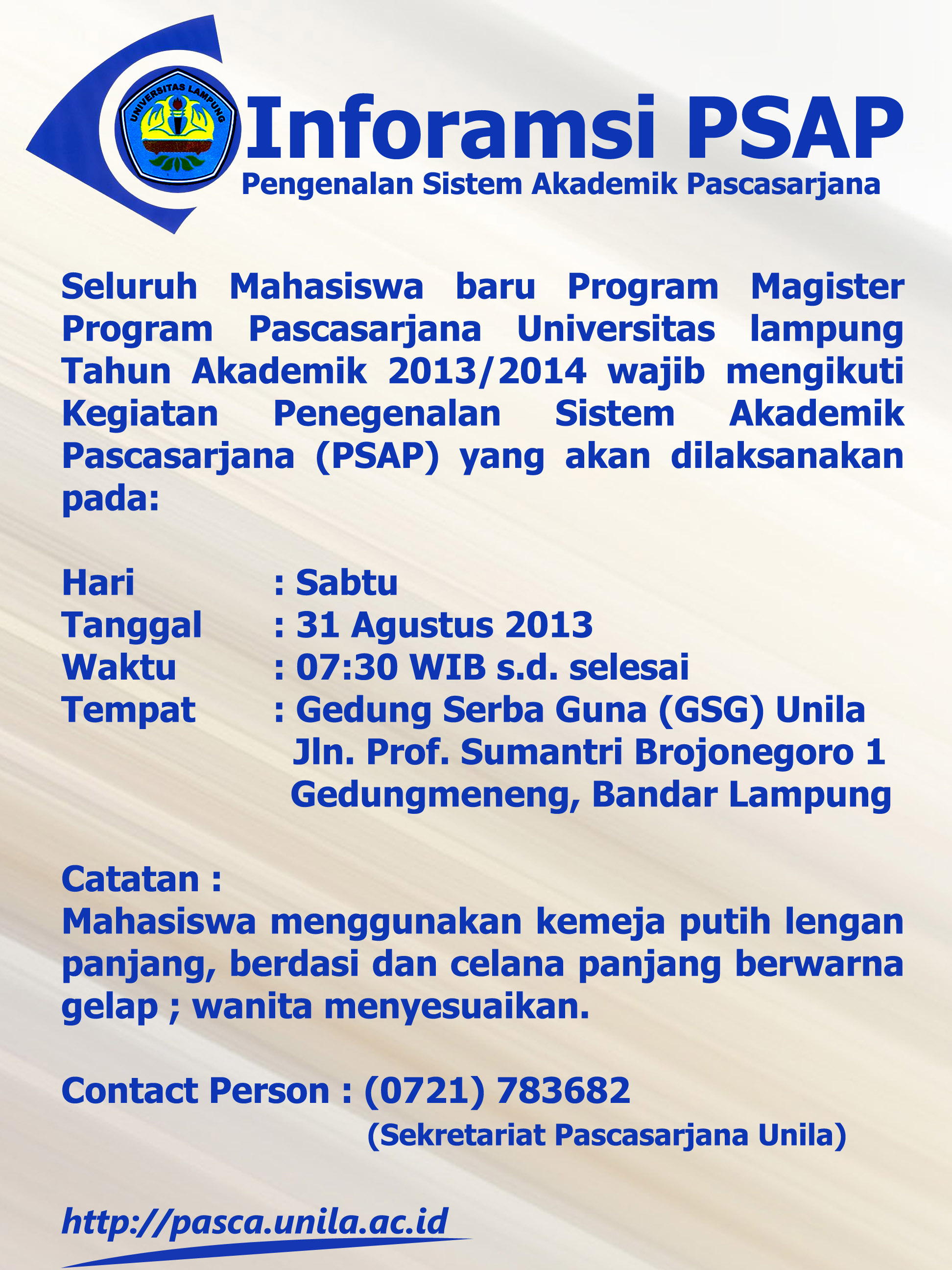 Info PSAP2013