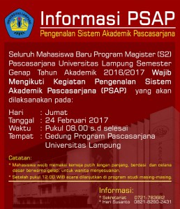 Pengumuman PSAP 24 Februari 2017i