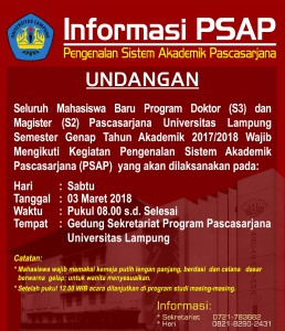 Pengumuman-PSAP-Genap 2018